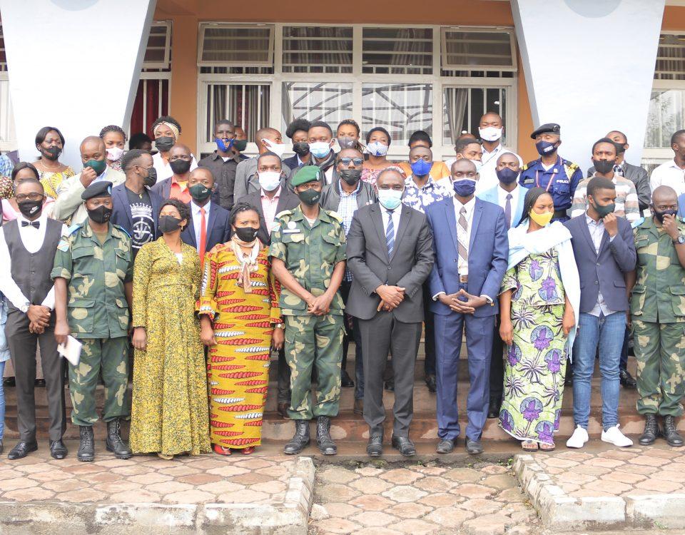 Photo de famille de la Tribune d'Expression populaire à Goma Juillet 2021
